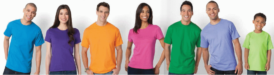 Several T-Shirt Colors